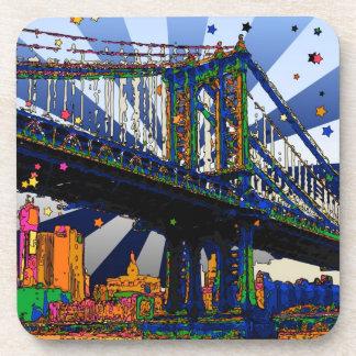 NYC psicodélico: Puente #1 de Manhattan Posavasos De Bebidas