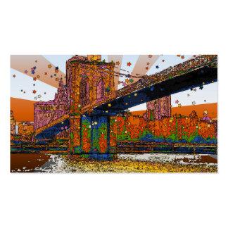 NYC psicodélico: Puente de Brooklyn #1 Plantilla De Tarjeta De Visita