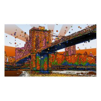 NYC psicodélico: Puente de Brooklyn #1 Tarjetas De Negocios