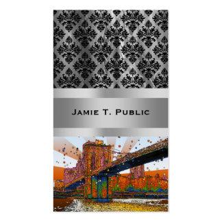 NYC psicodélico: Puente de Brooklyn #1 Plantilla De Tarjeta Personal