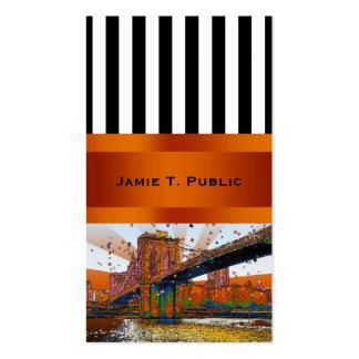 NYC psicodélico: Puente de Brooklyn #1 Tarjetas De Visita