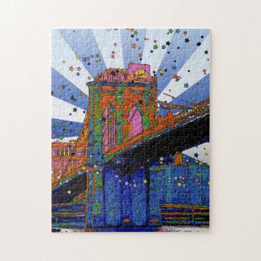 NYC psicodélico: Puente de Brooklyn #2 Puzzles Con Fotos