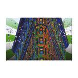 NYC psicodélico: Top del Flatiron que construye B1 Lienzo Envuelto Para Galerias