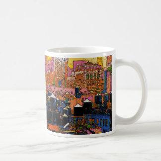 NYC psicodélico: Torres de agua de NYC en el Tazas De Café
