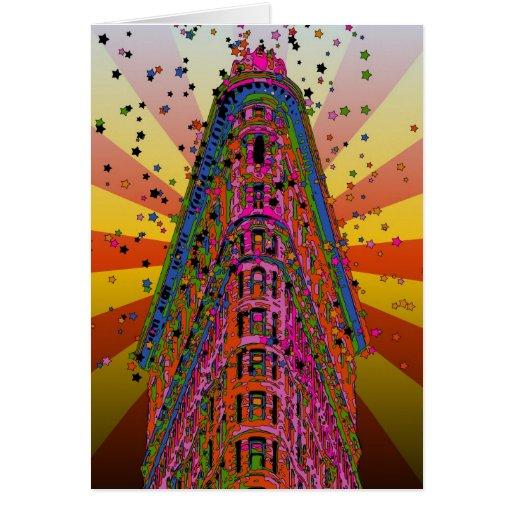 NYC psicodélicos - Top del Flatiron que construye Tarjeta De Felicitación