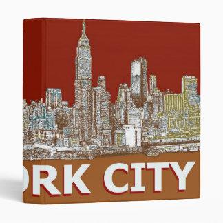 NYC red text orange 3 Ring Binder