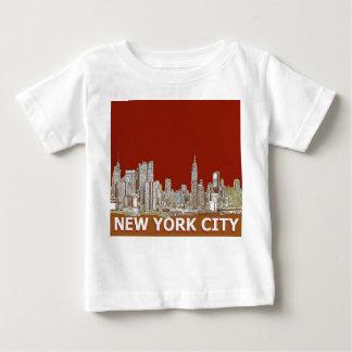 NYC red text orange T Shirt