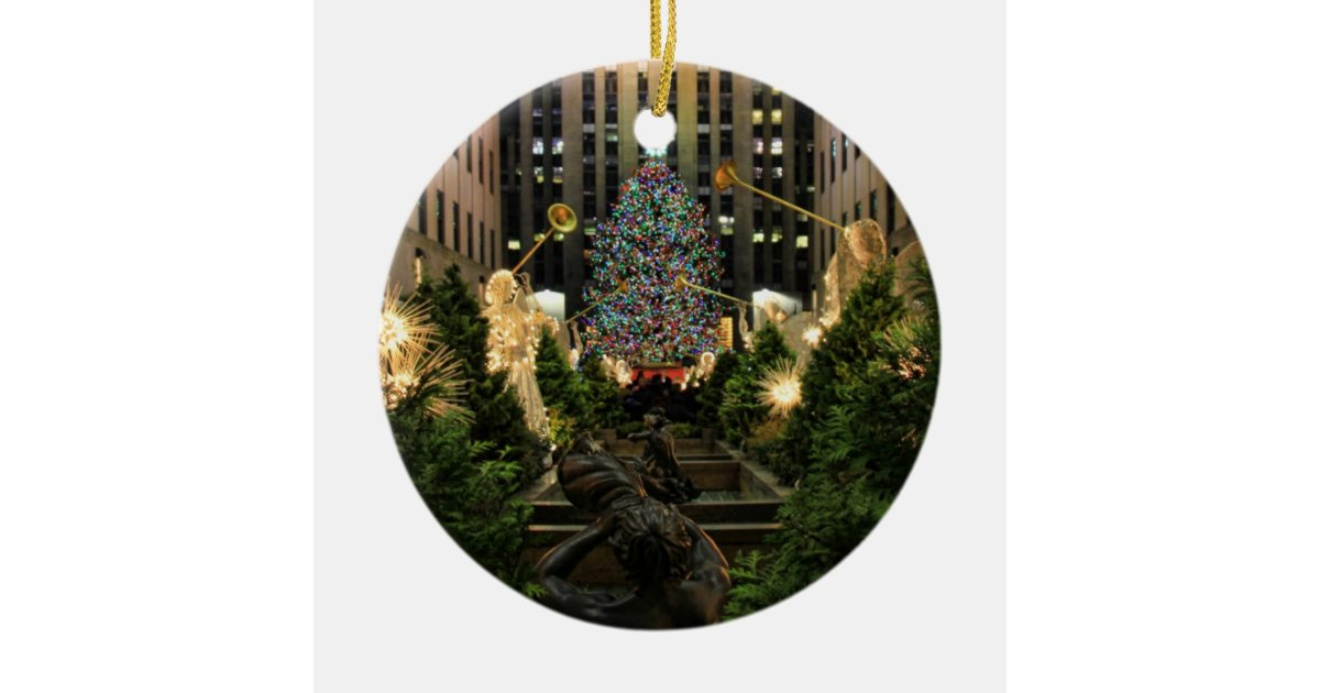 NYC Rockefeller Center Christmas Tree, Angels Ceramic ...