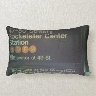 NYC Rockefeller Center Station Throw Pillow