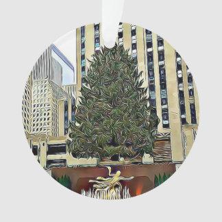 NYC Rockefeller Tree Skating Rink Christmas Ornament