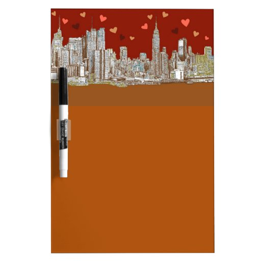 NYC romantic red Dry Erase Board