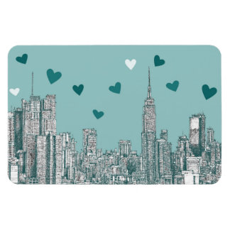 NYC romantic turquoise Magnet