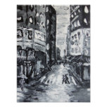 nyc scenes     'fifth ave drizzle' print