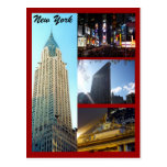nyc scenes red postcard
