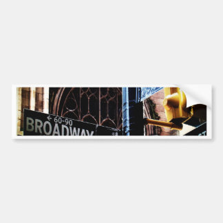 NYC signs Car Bumper Sticker