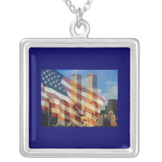 NYC SILVER PLATED NECKLACE
