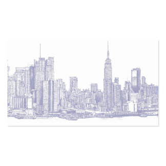 NYC sketch in light blue Business Card Templates