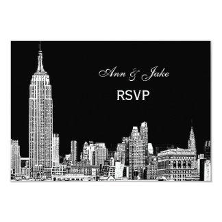 NYC Skyline 01 Etchd DIY BG Color RSVP #2 Card