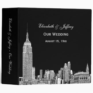 NYC Skyline 01 Etchd DIY BG Color Wedding Binder