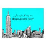 NYC Skyline 01 Etched DIY BG Color Bachelorette Card