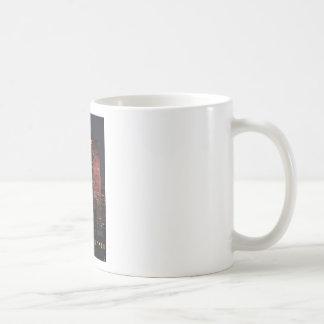 NYC Skyline: 30 Rock Lit Up in Pink Classic White Coffee Mug
