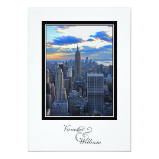 NYC Skyline as Sunset Approaches Wedding Invite