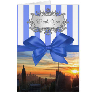 NYC Skyline at Sunset Invition Suite Thank You Stationery Note Card