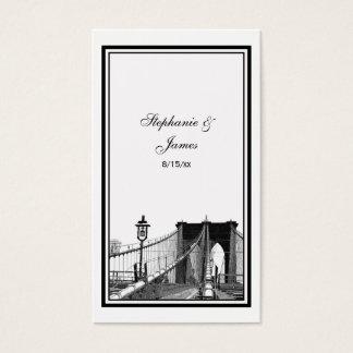 NYC Skyline Bklyn Bridge #2 Etched Escort Cards