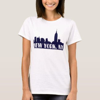 NYC Skyline Blue Silhouette, Empire State Bldg #1A T-Shirt