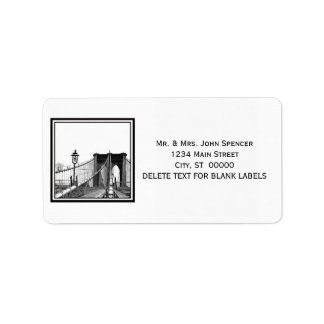 NYC Skyline Brooklyn Bridge #2 Address Label