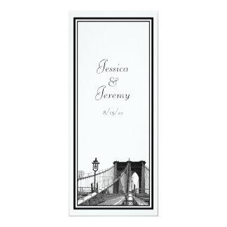 NYC Skyline Brooklyn Bridge #2 DIY Menu Reception Personalized Invites