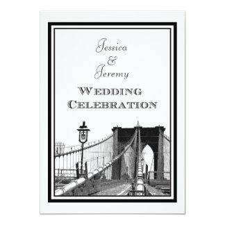 NYC Skyline Brooklyn Bridge #2 DIY Wedding Invite