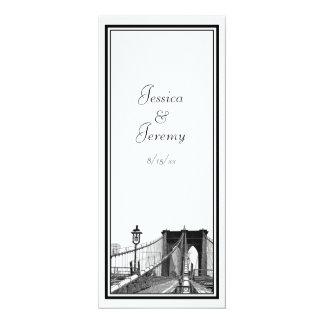 NYC Skyline Brooklyn Bridge #2 Menu Reception Announcement