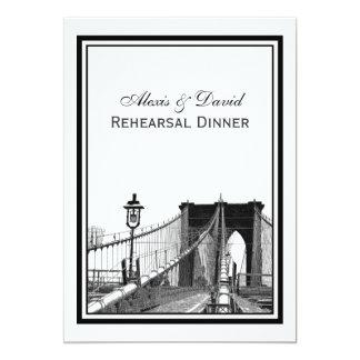 NYC Skyline Brooklyn Bridge #2 Rehearsal Dinner Card