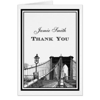 NYC Skyline Brooklyn Bridge 2 Thank You Cards