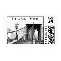 NYC Skyline Brooklyn Bridge #2 Thank You Postage