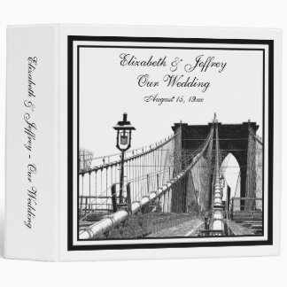 NYC Skyline Brooklyn Bridge #2 Wedding Binder