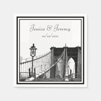 NYC Skyline Brooklyn Bridge #2 Wedding Disposable Napkins