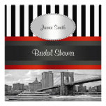 NYC Skyline Brooklyn Bridge, Boat Bridal Shower Personalized Invitations