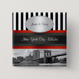 NYC Skyline Brooklyn Bridge Boat P Wedding Pin