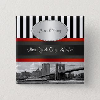 NYC Skyline Brooklyn Bridge Boat P Wedding Pin