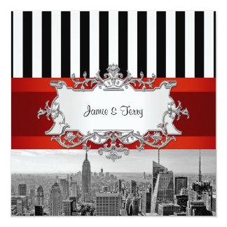 NYC Skyline BW B2 Wedding Invitation F2