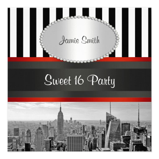 Personalized New york city themed Invitations – New York Party Invitations