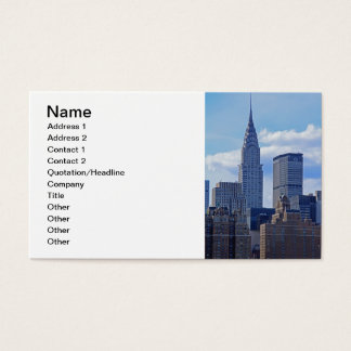 NYC Skyline Chrysler Building B1 Business Card
