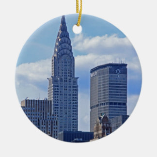 NYC Skyline Chrysler Building B1 Ceramic Ornament