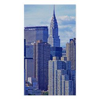 NYC Skyline: Chrysler Building, Met Life B1 Card 2 Business Cards
