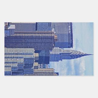 NYC Skyline: Chrysler Building, Met Life B1 Rectangular Sticker