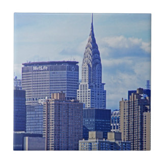 NYC Skyline: Chrysler Building, Met Life B1 Tile