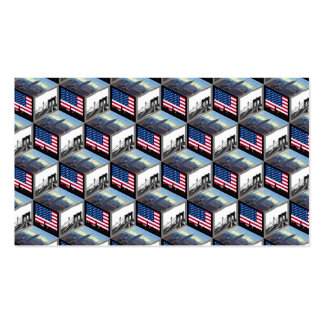 NYC Skyline Cubes Empire St Bldg Bklyn Bridge Double-Sided Standard Business Cards (Pack Of 100)