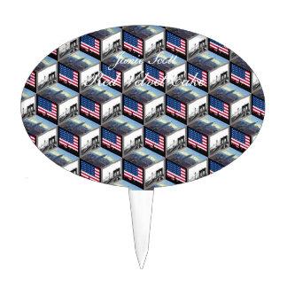 NYC Skyline Cubes Empire St Bldg Bklyn Bridge Cake Toppers
